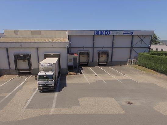 EFMO Entrepôt frigorifique Lyon sous douane